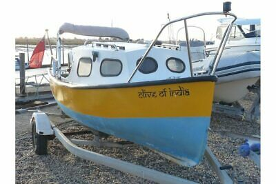 16 Ft Traditional Fishing Boat With Cuddy And Brand New Outboard • 3,150£
