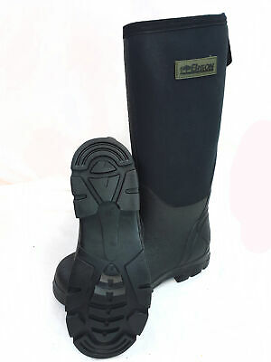 Bison Neoprene Wellington Muck Boot Black • 29.90£