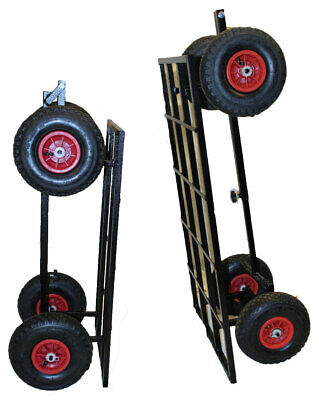 Mutneys Show Trolley Large Tyre Steering Fishing Pet Dog Mobile Business UK Made • 115£