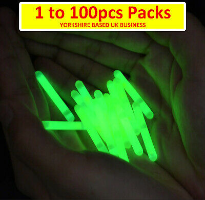 Glow Sticks Sea Coarse Carp Fishing Float Fluorescent Rod Tip Night Fish Lights  • 13.49£