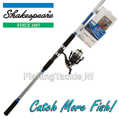 Shakespeare 10ft Surf/Pier Fishing Rod Reel & Tackle Box Kit 'Catch More Fish'  • 49.99£