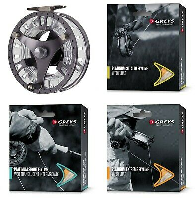 Greys GTS500 Cassette Fly Fishing Reel With Choice Of Line + Neoprene Case • 69.29£