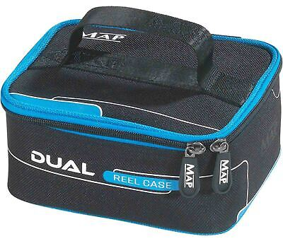Map Dual Reel Case New Padded Carry Handle Reel Storage Fly Fishing Case • 15£