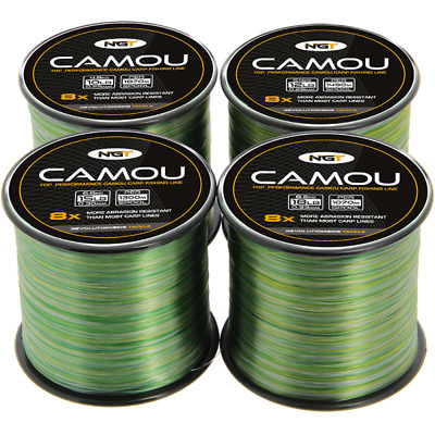 NGT Bulk Spool Of Camou Camo Carp Fishing Line - ALL SIZES - 10 12 15 18 Lbs • 8.80£