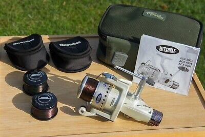 Mitchell ACX 6004 Fixed Spool Spinning Reel With 2 Spare Spools - Cases Included • 16£