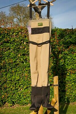 Orvis Pro Guide Breathable Chest Waders With Stocking Feet & Gravel Guard Size L • 10.50£