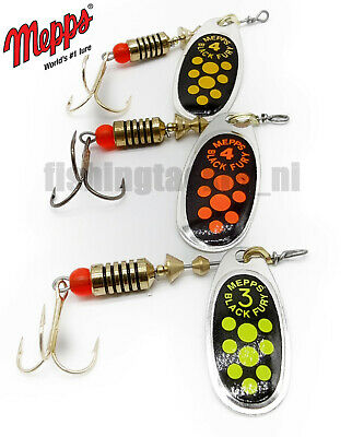 Mepps Black Fury Spinner Fishing Lure Trout Salmon Pike Orange Yellow Chartreuse • 4.99£
