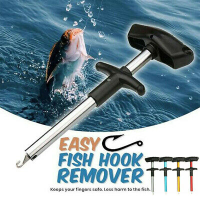 Easy Fish Hook Remover Disgorger Detacher T Bar Fishing Tackle Tool Portable • 5.29£