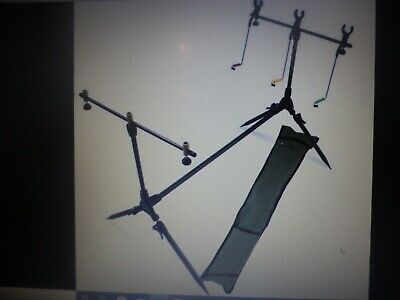 A New Delux  A.p. Carp Fishing Rod Pod Stand Set With Hangers, Indicators And R • 16.50£