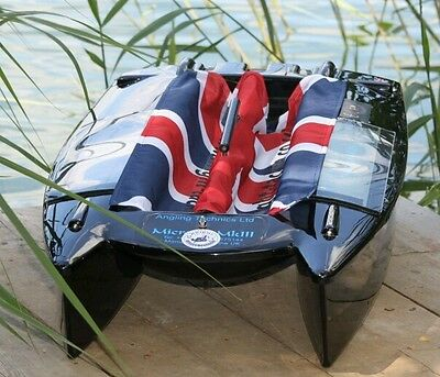 Angling Technics Microcat Baitboat Wright Tackle Union Jack Hopper Drapes • 12.95£