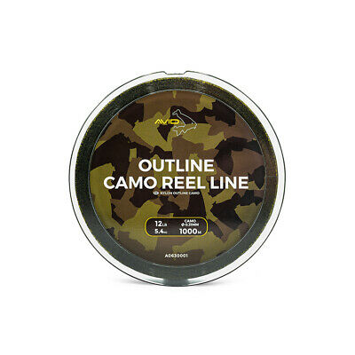 Avid Carp 1000m Outline Camo Reel Line Mono - All Breaking Strains Avaliable • 24.95£