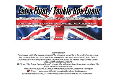 Extra Slotted Float/Tackle Box Foam • 4.95£