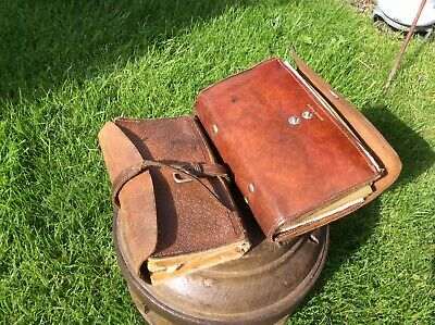 Pair Of Vintage Leather Fly Fishing Wallets • 18£
