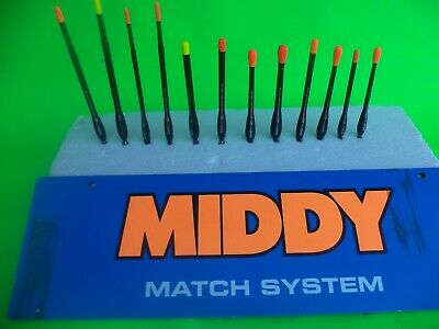 A Set Of 12  Mixed Middy Baggin Machine Waggler Fishing Floats • 12£
