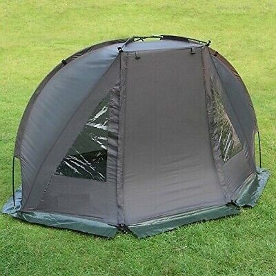 Carp Fishing 1 Man Bivvy Tent Waterproof Green Day Shelter With Pegs Grounsheet • 34.95£