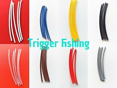 Heat Shrink Tubing Small 1.6mm & Large 2.4mm Carp Pike Sea Fishing Tackle Rigs  • 1.99£