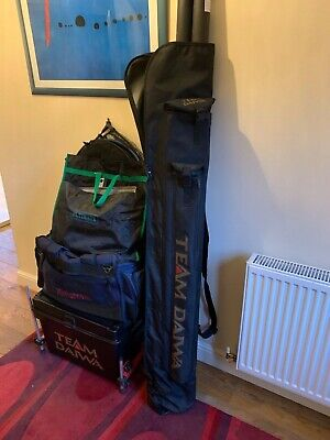 Fishing Tackle Complete Set Up Rods Reels Pole Etc (daiwa) Job Lot • 205£