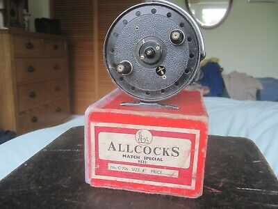 Vintage Fishing Reel, Allcocks Match Special 4  Boxed No.C706 • 42.50£