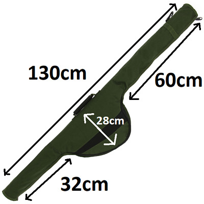 NGT (515) 130cm Long Carp Fishing Padded Rod Bag Sleeve For Made Up Rod  • 13.95£