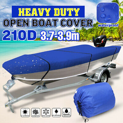 Blue Waterproof Open Boat Cover Marine Grade Trailerable V-Hull Dinghy  • 30.66£