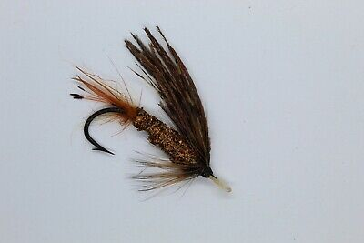 Size 1½ Vintage Gut Eye Salmon Fly UNUSED  Late 19th Early 20th Century • 5.50£