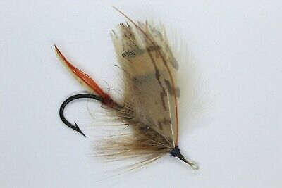 Bittern ?Variant Size 2/0 Vintage Gut Eye Salmon Fly Late 19 Early 20 Century • 5.50£