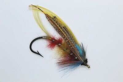 Size 3/0 Vintage Gut Eye Salmon Fly Early 20th Century • 16£