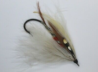 Grey Eagle Size 8/0 Vintage Gut Eye Salmon Fly Date About 1900-15 • 51£