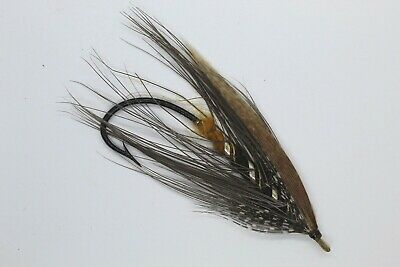 Grey Heron Size 7/0  Vintage Gut Eye Salmon Fly Date About 1900-10 • 10.50£