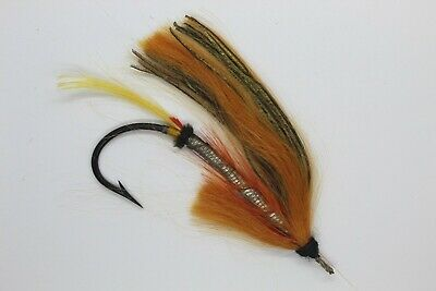 Silver Mohair Canary Size 7/0 Vintage Gut Eye Salmon Fly Date About 1900-10 • 23£