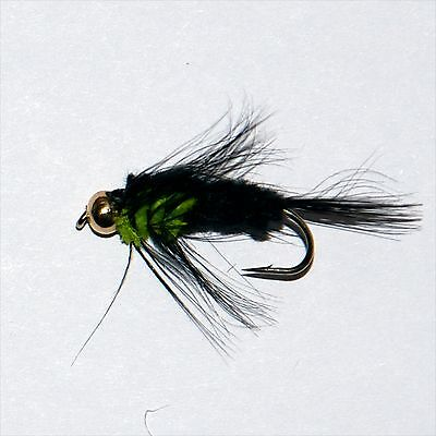 MONTANA LIME GREEN THORAX GOLD HEAD NYMPH  LS Trout & Grayling Fly Fishing Flies • 4.48£