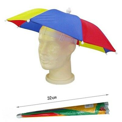 Umbrella Hat Novelty Adult Costume Hat Ladies Mens Multi Colour Festival Hat • 2.69£
