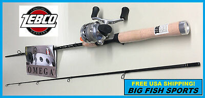 ZEBCO 5'6  OMEGA Spincast Fishing Combo Rod And Reel NEW #ZO2C • 54.99£