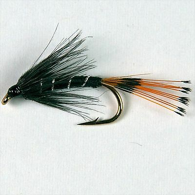 6 BLACK PENNEL Wet Trout Fly Fishing Flies Size Options By Dragonflies      • 3.18£