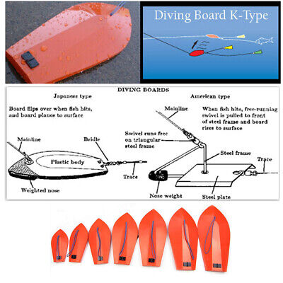 K-Type Diving Board With Thread For Trolling On Boat • 14.55£
