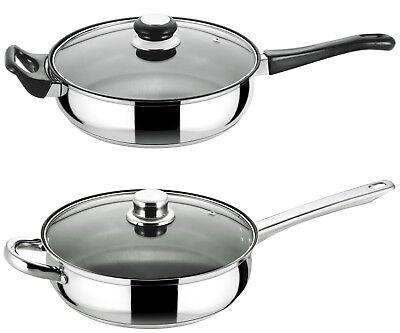 Buckingham Induction Stainless Steel Deep Sauté Pan W/ Non-Stick Coating 24 Cm • 24.99£