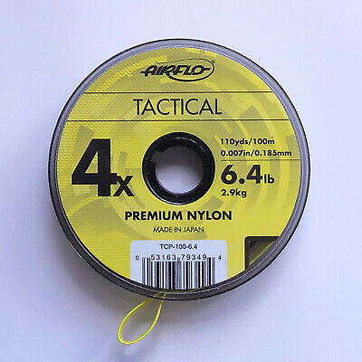 Airflo Tippet Leader Tactical Fly Fishing CoPolymer 100m Spools Various Sizes • 5.99£