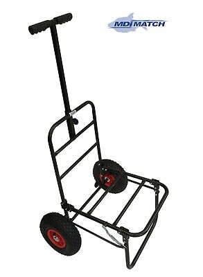MDI Match Fishing Or  Festival Compact Folding Trolley With Pneumatic Wheels • 44.99£