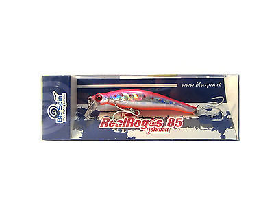 New By BLUSPIN Jerk Bait Real Rogos 85 12g 85mm Sinking - Colour: 85RR127 • 8.03£