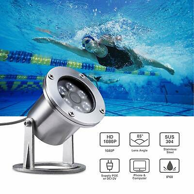 Barlus IP68 1080P Underwater Camera Stainless Steel Aquarium POE IP Lens 3.6MM • 129.99£