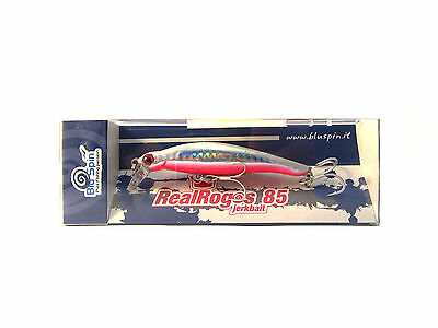 New By BLUSPIN Jerk Bait Real Rogos 85 12g 85mm Sinking - Colour: 85RR129 • 8.13£