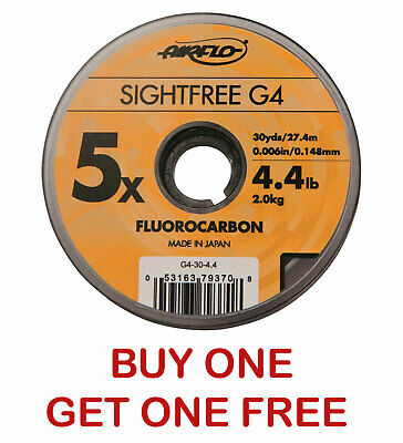 Airflo 110 Yards Sightfree G4 Fishing Fluorocarbon - Various Sizes | NEW • 2.50£