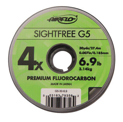 Airflo 30 Yards Sightfree G5 Premium Fishing Fluorocarbon - Various Sizes | NEW • 2.50£