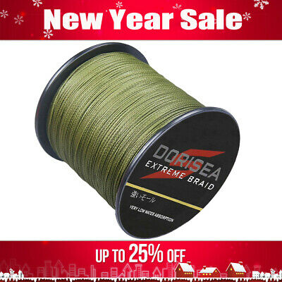 UK Dorisea Army Green 328yds/547yds/1093yds Pe Braided Fishing Line 10lb~100lb • 12.90£