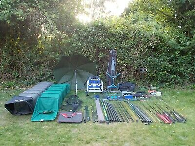 Full Match And Pole Fishing Set Up Job Lot Rods Reels Box Pole FISHING SET UP • 360£