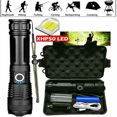 900000Lumens High Power XHP50 Zoom Flashlight LED Rechargeable Torch Headlamp • 10.98£