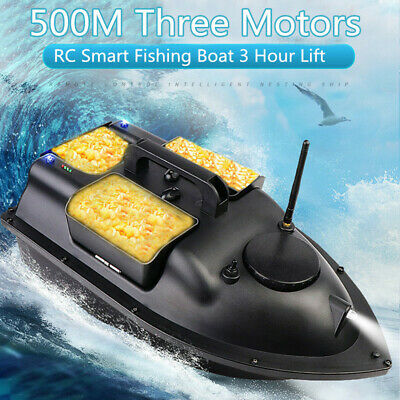 Remote Control RC Wireless Fishing Bait Boat Speedboat 500M 5.4km/h Fish Finder • 109.99£