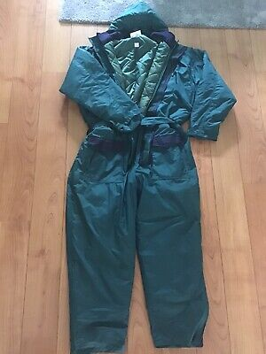 CORMORAN Green Thermal Padded Overall Jumpsuit Sea Fishing Size XL In VGC • 40£