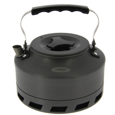 NGT Carp Fishing Cooking Camping 1.1 Litre FAST BOIL Aluminium Kettle • 22.95£