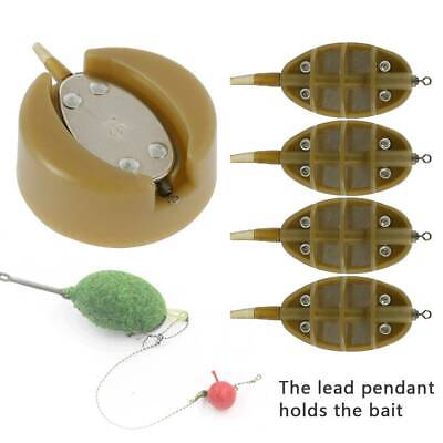 4 & 1 Feeder Mould Inline Method Feeder And Mould Set For Carp Fishing Tackle M • 6.39£